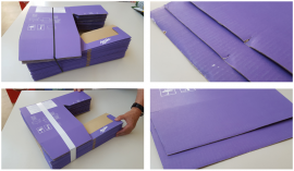Strapping damaged boxes were rejected by customers
